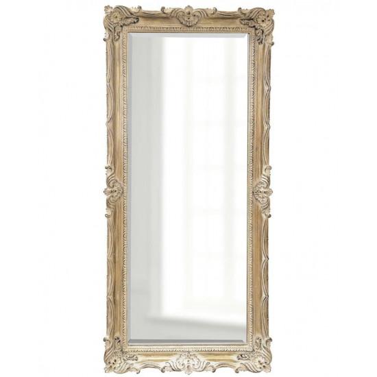 Зеркало напольное в классической раме в полный рост Флавио Artisan Ivory