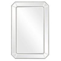 Зеркало настенное прямоугольное в серебряной раме Леннокс