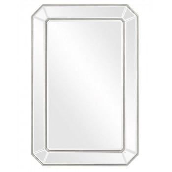 """Зеркало настенное прямоугольное в серебряной раме """"Леннокс"""""""