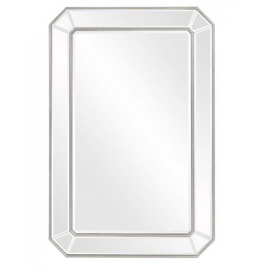 """Зеркало настенное прямоугольное в серебряной раме """"Леннокс"""" в интернет-магазине ROSESTAR фото"""