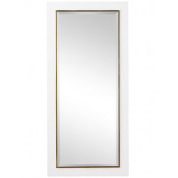 """Напольное зеркало в белой раме в полный рост """"Пуатье"""""""