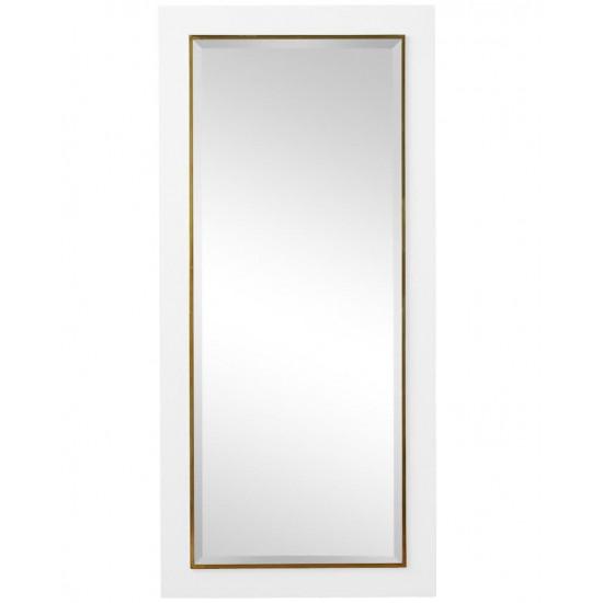 """Напольное зеркало в белой раме в полный рост """"Пуатье"""" в интернет-магазине ROSESTAR фото"""