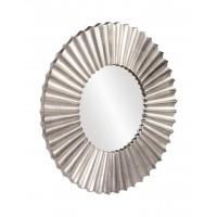 """Круглое настенное зеркало в серебристой раме """"Монро"""""""