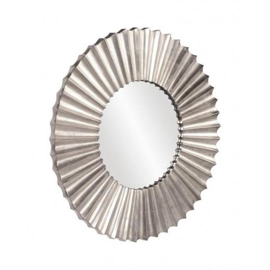 """Круглое настенное зеркало в серебристой раме """"Монро"""" в интернет-магазине ROSESTAR фото"""