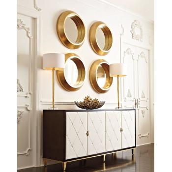 Четыре круглых зеркала в золотой раме Вернер