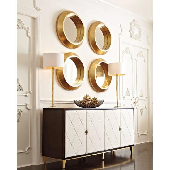 Четыре круглых зеркала в золотой раме Вернер в интернет-магазине ROSESTAR фото