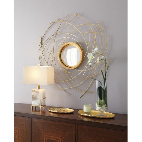 """Зеркало круглое настенное в раме """"Миранда"""" в интернет-магазине ROSESTAR фото"""