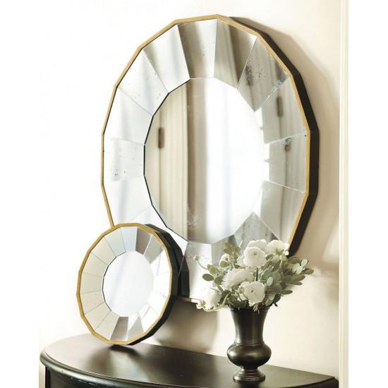 """Круглое настенное зеркало в раме """"Моррис"""" в интернет-магазине ROSESTAR фото"""