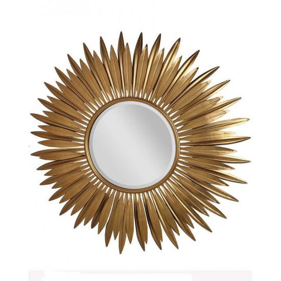 Зеркало солнце в раме золотого цвета Кимберли в интернет-магазине ROSESTAR фото