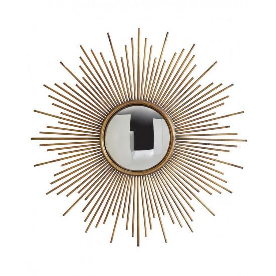 """Круглое зеркало настенное в виде солнца """"Брук"""" Золото в интернет-магазине ROSESTAR фото"""