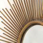 Круглое зеркало настенное в виде солнца Брук Золото в интернет-магазине ROSESTAR фото 2