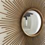 Круглое зеркало настенное в виде солнца Брук Золото в интернет-магазине ROSESTAR фото 3