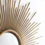 Круглое зеркало настенное в виде солнца Брук Золото в интернет-магазине ROSESTAR фото 4