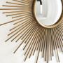 Круглое зеркало настенное в виде солнца Брук Золото в интернет-магазине ROSESTAR фото 5