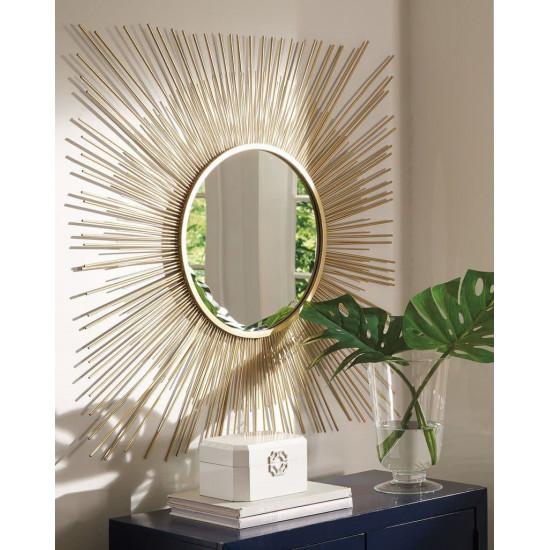 Зеркало солнце в дизайнерской раме Солерно