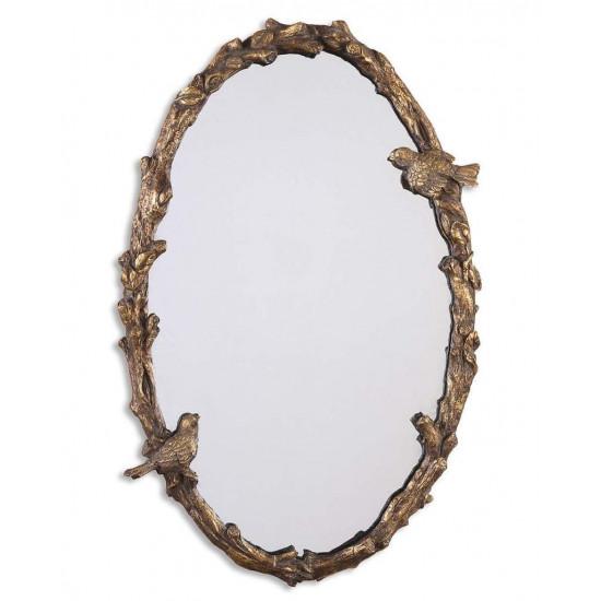 """Овальное зеркало в раме """"Долорес"""" Золото"""