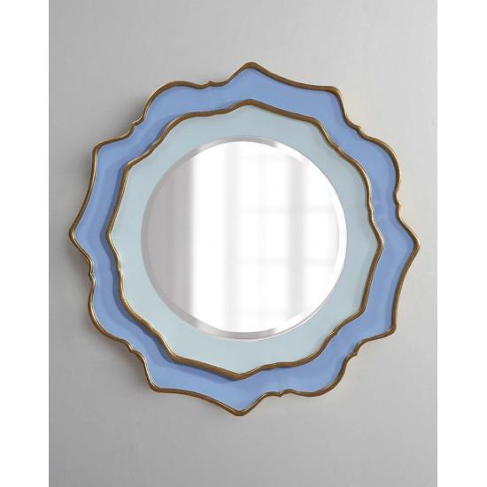 """Зеркало круглое в голубой раме """"Дороти"""" Sky Blue в интернет-магазине ROSESTAR фото"""