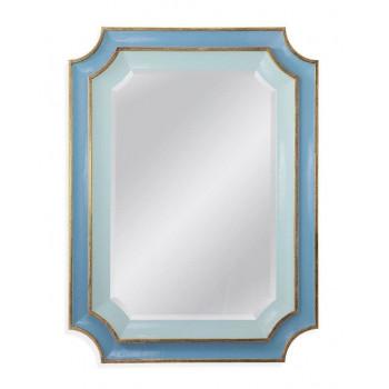 """Зеркало дизайнерское в синей раме """"Кьяра"""" Sky Blue"""