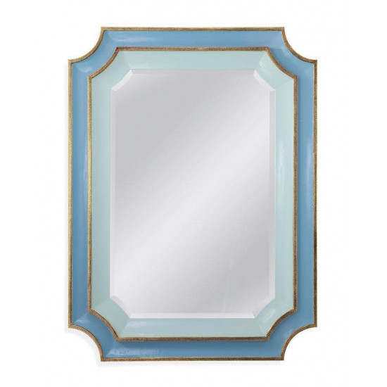 Зеркало дизайнерское в синей раме Кьяра Sky Blue в интернет-магазине ROSESTAR фото