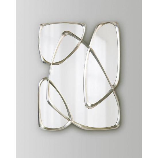 Дизайнерское стильное настенное зеркало в оригинальное фигурной раме Луар Серебро в интернет-магазине ROSESTAR фото