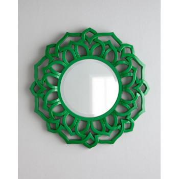 "Круглое зеркало в зелёной раме ""Коул"""