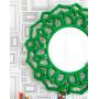 """Круглое зеркало в зелёной раме """"Коул"""" в интернет-магазине ROSESTAR фото 1"""