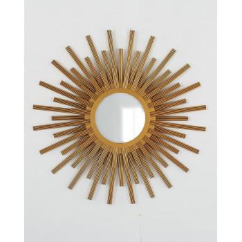 """Зеркало в виде солнца """"Бертран"""" Золото"""