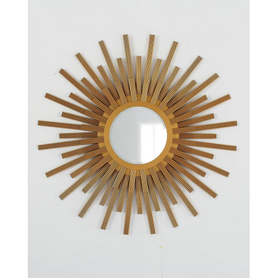 """Зеркало в виде солнца """"Бертран"""" Золото в интернет-магазине ROSESTAR фото"""