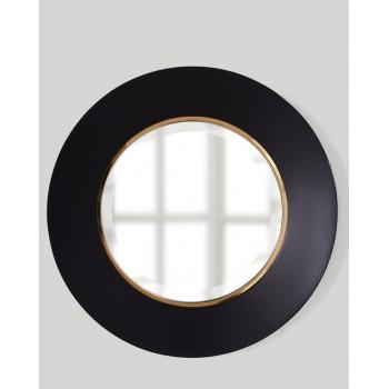 Круглое зеркало в чёрной раме Портер Black