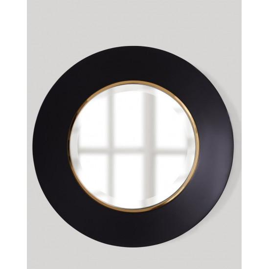 Круглое зеркало в чёрной раме Портер Black в интернет-магазине ROSESTAR фото