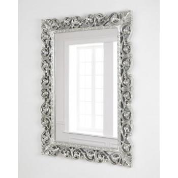 """Зеркало в серебряной раме """"Бергамо"""" Тайваньское серебро"""