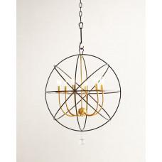 Люстра потолочная металлическая Сиера black/gold