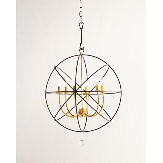 Люстра потолочная металлическая Сиера black/gold  в интернет-магазине ROSESTAR фото