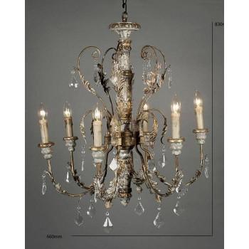 Люстра потолочная во французском стиле с 6-ю лампами Чизвик