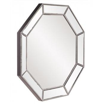 Восьмиугольное зеркало в серебряной раме Грэм