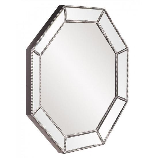 Восьмиугольное зеркало в серебряной раме Грэм в интернет-магазине ROSESTAR фото