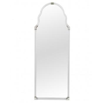 Напольное зеркало в полный рост в раме никель Поллок nickel