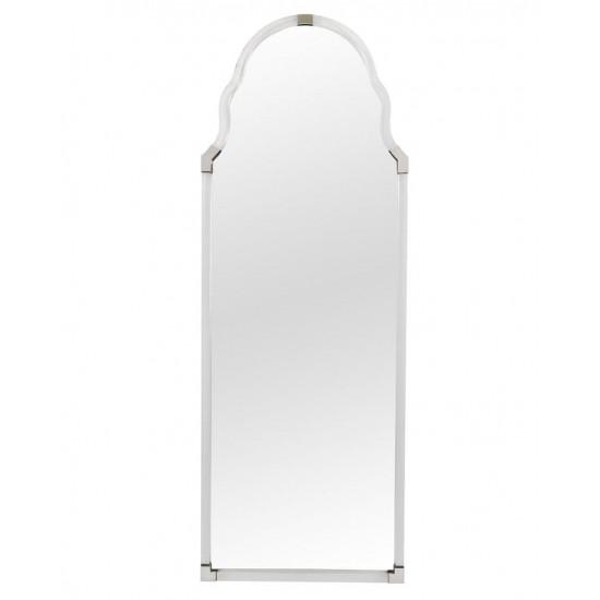 Напольное зеркало в полный рост в металлической раме никель Поллок nickel в интернет-магазине ROSESTAR фото