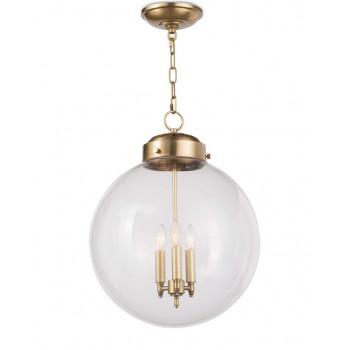 Подвесной потолочный светильник круглый Освальд Золото