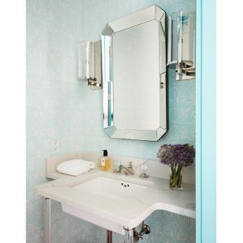 Прямоугольное настенное зеркало в зеркальной раме Вудроу