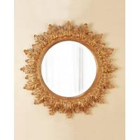 Круглое настенное зеркало в раме Альба