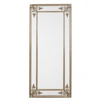 """Напольное большое зеркало в раме в полный рост """"Венето"""" Серебро"""