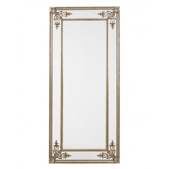 """Напольное большое зеркало в раме в полный рост """"Венето"""" Серебро в интернет-магазине ROSESTAR фото"""