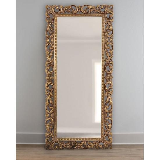 Зеркало напольное в рост Кингстон Золото в интернет-магазине ROSESTAR фото