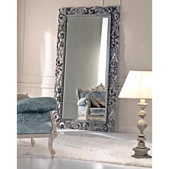 Зеркало напольное в рост Кингстон Серебро в интернет-магазине ROSESTAR фото