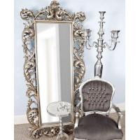 Модное напольное зеркало Meriveil Серебро