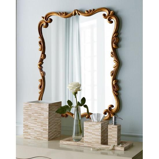 Зеркало в золотой раме Мюррей Золото в интернет-магазине ROSESTAR фото