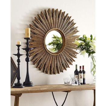 Дизайнерское зеркало солнце Эллисон Золото