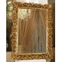 Зеркало настенное в красивой прямоугольной раме Бергамо Золото в интернет-магазине ROSESTAR фото