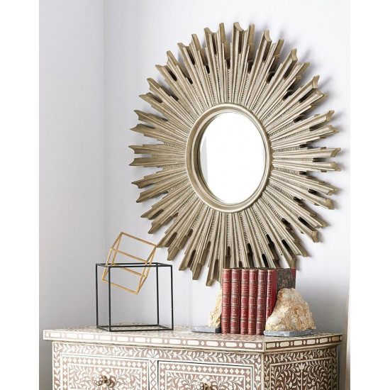 "Зеркало солнце ""Эллисон"" Серебро в интернет-магазине ROSESTAR фото"
